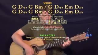 too good drake guitar lesson chord chart g d em bm