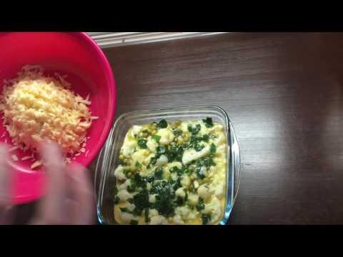 Запеканка из цветной капустой Как приготовить цветную капусту. Блюдо для диабетиков.