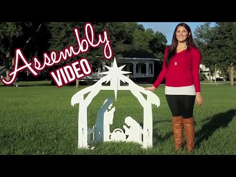 Outdoor Nativity Sets | Assembly Video