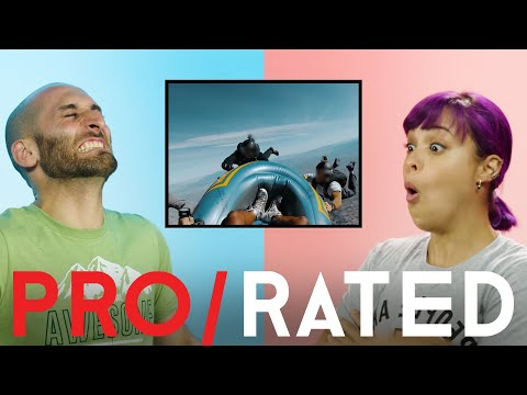Pro/Rated: Athletes React To Skiing, Skydiving & More   People Are Awesome