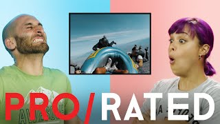 Pro/Rated: Athletes React To Skiing, Skydiving & More | People Are Awesome