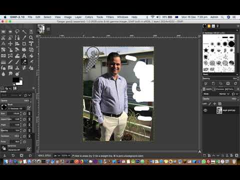 How to remove white background in GIMP in MAC | Add transparency in photo thumbnail