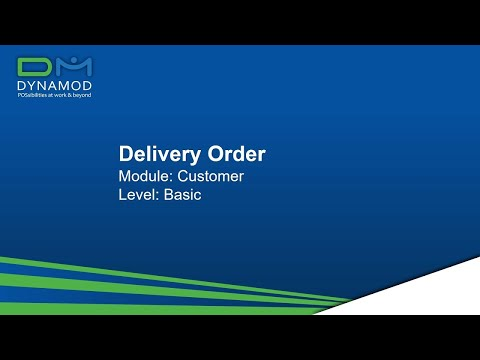 3.4 Customer Delivery Order