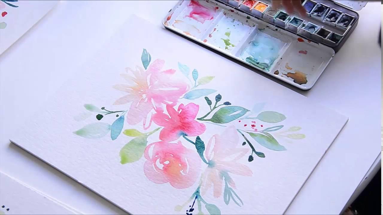 Creer Un Bouquet A L Aquarelle Les Tribulations De Marie Youtube