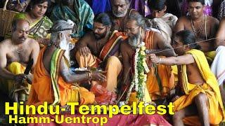 Hindu-Tempelfest Juli 2016 mit Prozession und Waschung im Datteln-Hamm-Kanal