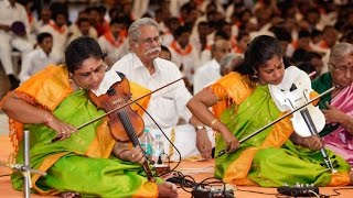 Tamil Nadu Devotees Parthi Yatra, Day 3 || Violin Duo Dr M Lalitha and Dr M Nandhini  - 14 Apr 2016