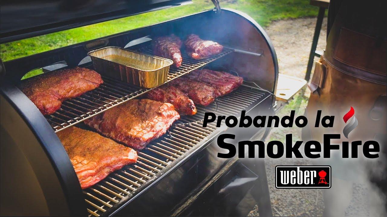 Probando la SmokeFire (Ahumador Ultramoderno a Pellets de Weber)