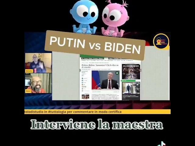 Putin verso Biden, come a scuola. Interviene la maestra