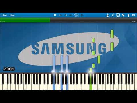 SAMSUNG MOBILE STARTUP & SHUTDOWN SOUNDS IN SYNTHESIA