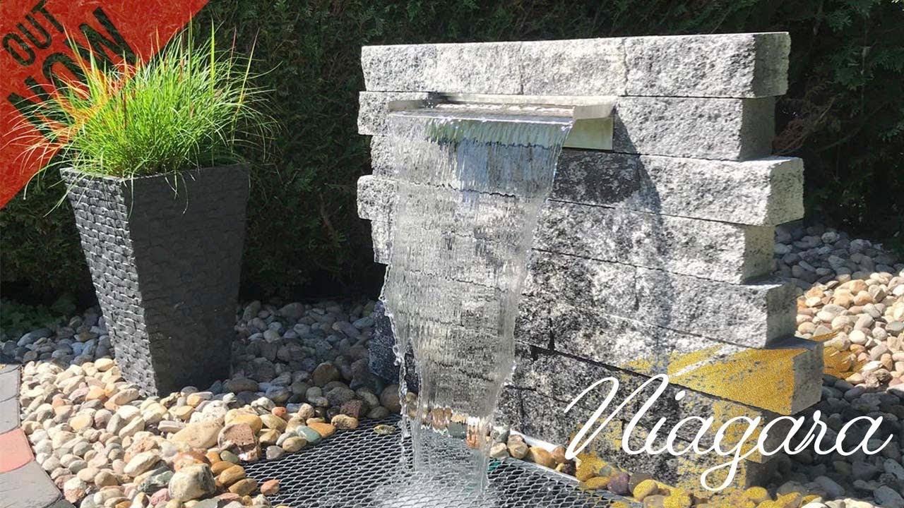 ▶ GARTENOASE ◀ WASSERFALL SELBER BAUEN  Wasserfall für Garten