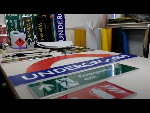 London Underground Signs - The manufacturing process at A.J. Wells and Sons