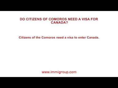 Do citizens of Comoros need a visa for Canada?