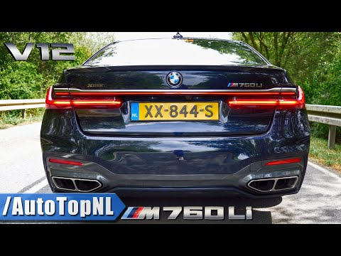 2020 BMW M760Li 6.6 V12 BiTurbo PURE! Exhaust SOUND Onboard & REVS By AutoTopNL