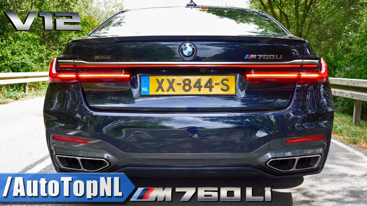 2020 BMW M760Li 6 6 V12 BiTurbo PURE! Exhaust SOUND Onboard & REVS by  AutoTopNL