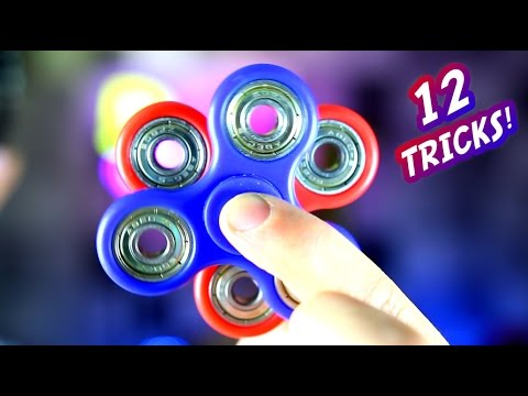 Thumbnail: 12 Awesome Hand Spinner Fidget Tricks and Science Experiment CHALLENGE!
