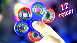 12 Awesome Hand Spinner Fidget Tricks and Science Experiment CHALLENGE!
