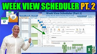 Create Automated Reminder Emails with Customized Templates in this Excel Week View Schedule [Part 2]