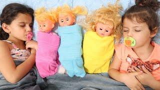 سوار وماسة يلعبوا مع الدمى | sewar Pretend Play with Dolls, Are you sleeping brother John by GLOBIKI