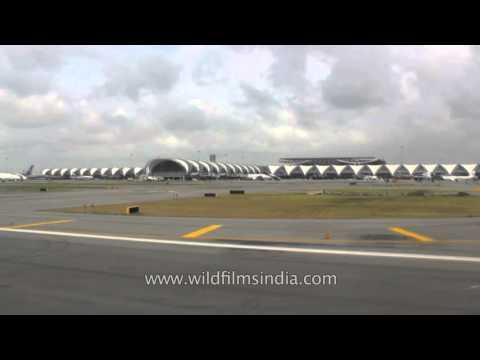 Flight takes off from Bangkok Airport