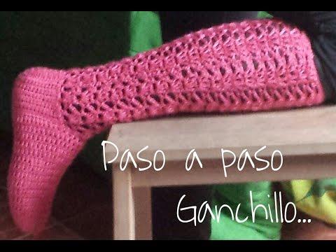 Calcetas Paso a paso ( Ganchillo) Todas las tallas / DIY - YouTube