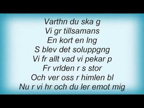 Lisa Nilsson - En Kort En Lang Lyrics
