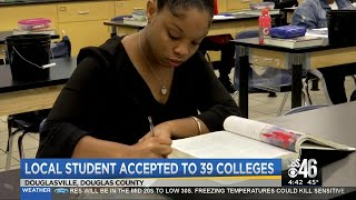 Local student accepted to 39 colleges
