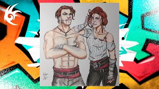 Drawing - Assassin's Creed Syndicate - Jacob and Evie Frye