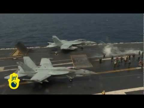 US, South Korea Hold Naval Drill in Yellow Sea: Aircraft Carrier USS George Washington in Drill