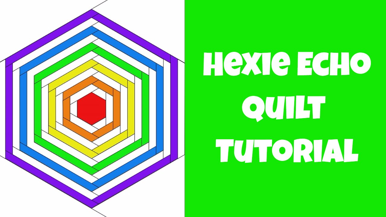 Hexie Echo Free Quilt Pattern - Free Motion Quilting Project