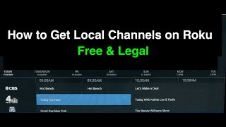 How to Get Local Channels on Roku