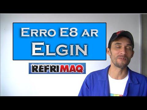 Erro (E8) ar condicionado split Elgin