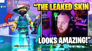 TimTheTatman Discovers A *NEW* LEAKED Scarecrow Skin In Game | Fortnite Daily Funny Moments Ep.387