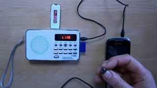 Review mini-radio T-205 - MP3 Radio SD MicroSD USB
