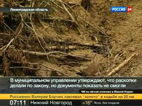 Под Гатчиной разрушено 40 древнерусских курганов