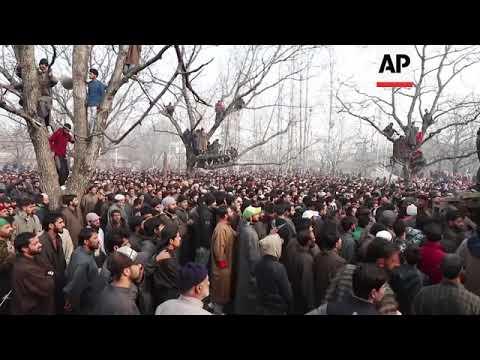 Funeral held in Indian Kashmir for a rebel killed in gunbattle