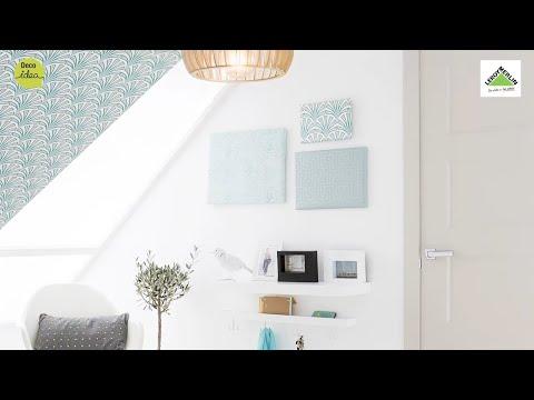 Cuadros con papel pintado leroy merlin youtube - Leroy merlin marcos cuadros ...