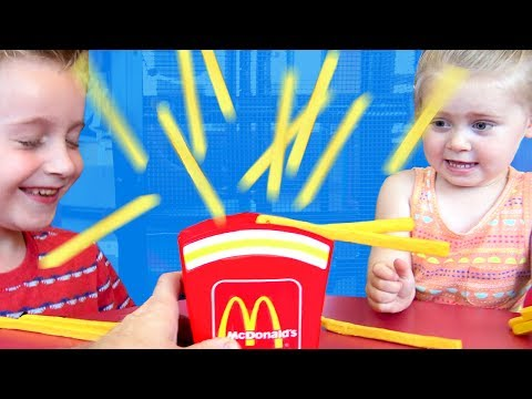 McDonald's Exploding French Fries Game! Family Fun & Indoor Playground