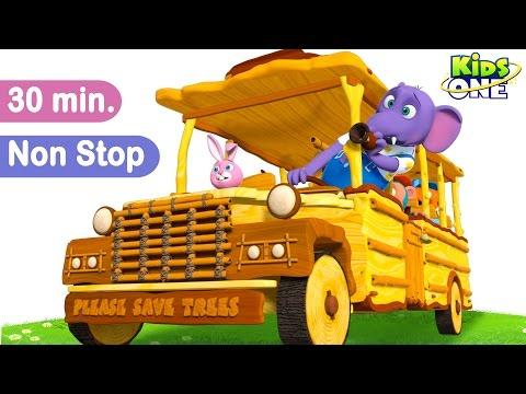 Wheels on the bus -  (Repeat play) Nursery Rhyme loops