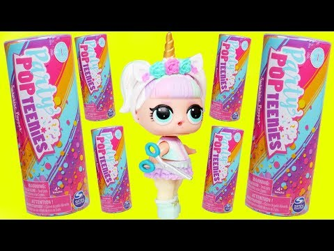 LOL Surprise Bon Bon Family open PARTY POPTEENIES™ Confetti Pop Glitter Glam Balls Series 4