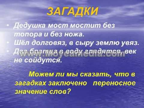 Примеры метафоры в русском языке