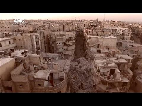 Drone Video Shows Destruction in Aleppo From the Air