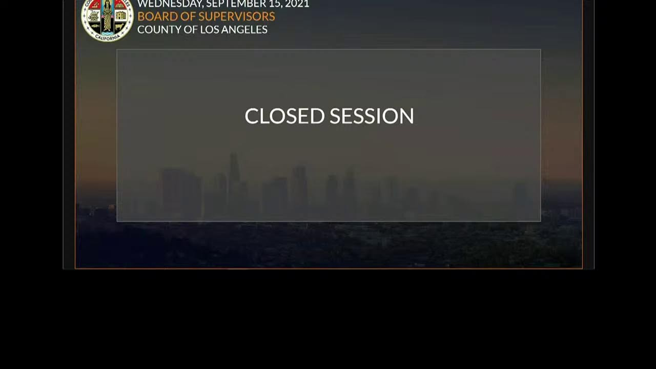 Download Los Angeles County Board of Supervisors - Meeting 9-15-21