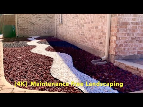 "DIY Project. ""NO DIG EDGE BORDER"" Backyard Makeover Timelapse. Maintenance free landscaping / 4K"