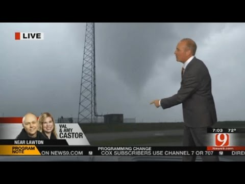 News9 Live Tornado Coverage (5/8/2016) – Lawton, OK