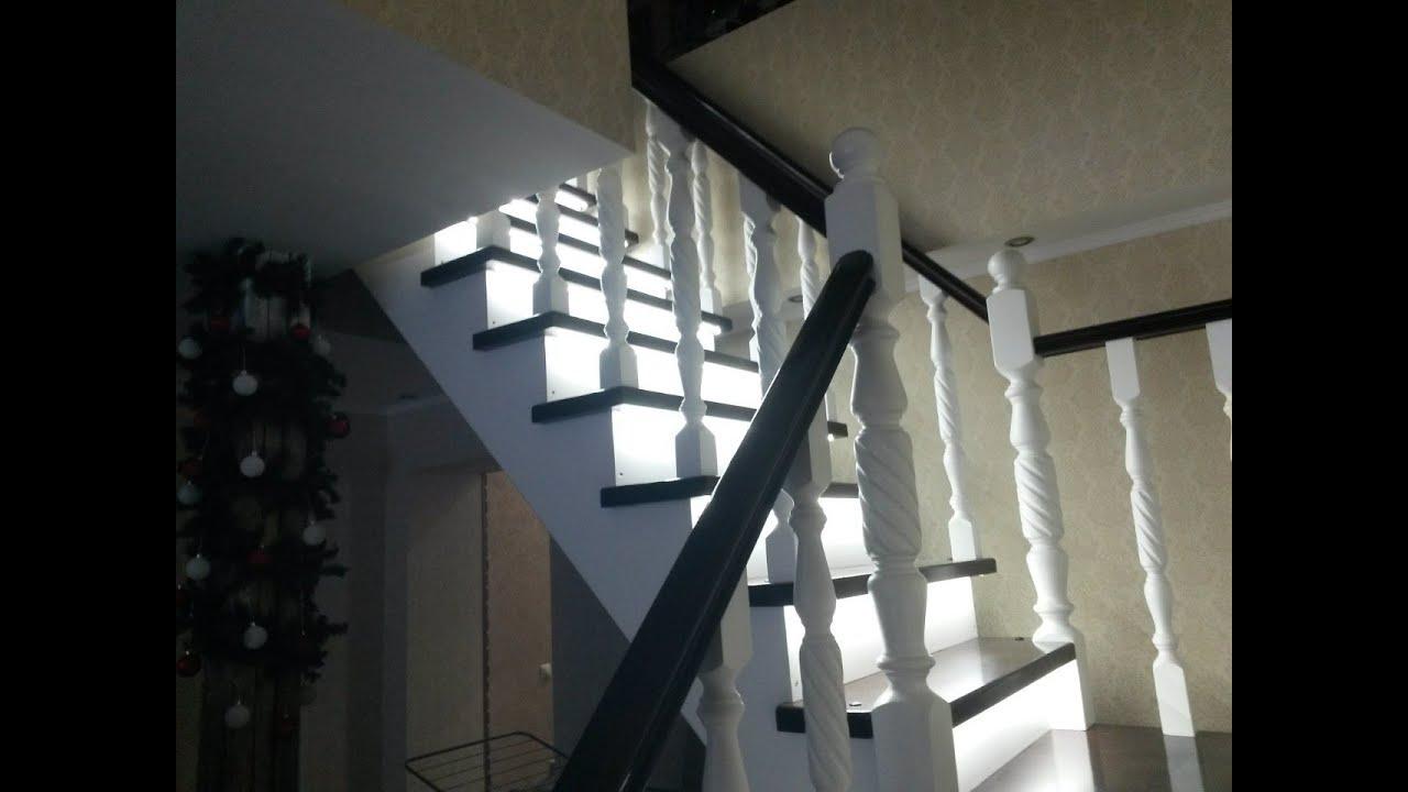 Светодиодная подсветка лестницы. Часть 1