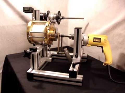 Motorized line winder youtube for Fishing line winder machine