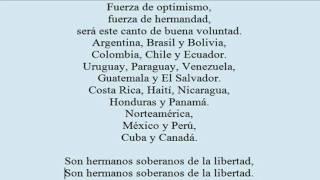 Himno de las Americas Pista