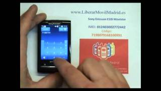Liberar Sony Ericsson E10i - X10 Mini por Código IMEI - www.LiberarMovilMadrid.es
