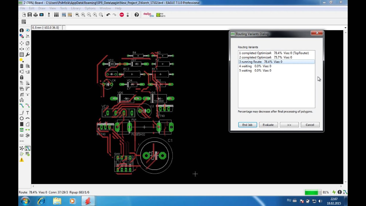 Eagle CAD. Autorouting. - YouTube