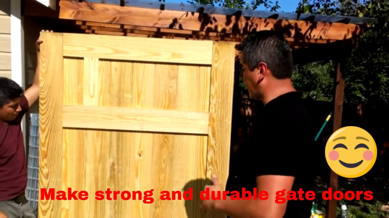 Fence gate construction DIY  How to make a door